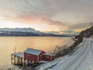 Window view Solbergfjord Inn